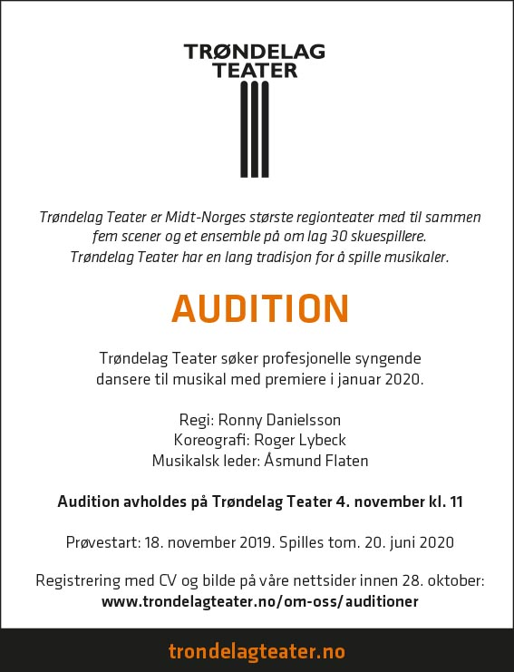 Audition for musikal i 2020